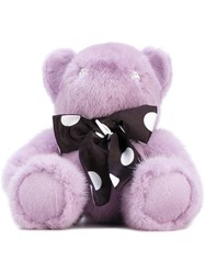 Liska Teddy Bear Unisex Mink Fur Crystal One Size Pink Purple