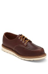 Red Wing Shoes Men's Red Wing Moc Toe Derby Mahogany 8109