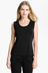 Ming Wang Scoop Neck Tank Black