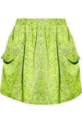 Vivienne Westwood Scale Neon Textured Jacquard Mini Skirt