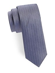 Saks Fifth Avenue Micro Diamond Silk Tie Lavender