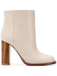 Marni Block Ankle Boots Nude And Neutrals