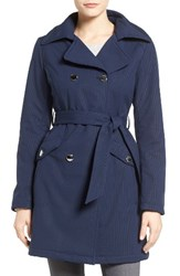 Jessica Simpson Women's Trench Coat Dot Navy