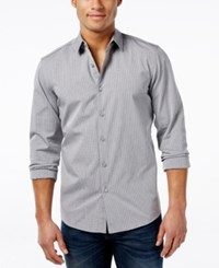 Kenneth Cole Reaction Men's Black Mini Check Long Sleeve Shirt