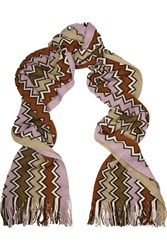 Missoni Chevron Knit Wool Blend Scarf