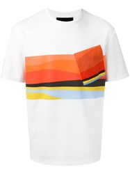 Plac Abstract Print T Shirt White