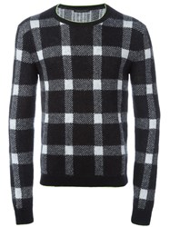 Christopher Kane Checked Jumper Black