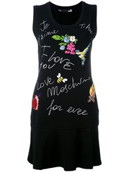 Love Moschino Graphic Print Dress Black