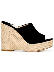 Paloma Barcelo Espadrille Wedges Black