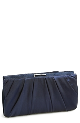 Nina 'Larry' Satin Clutch Navy
