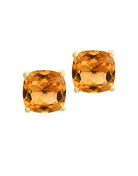 Effy Citrine And 14K Yellow Gold Stud Earrings