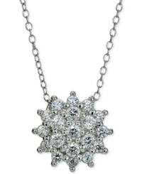 Giani Bernini Cubic Zirconia Cluster Pendant Necklace In Sterling Silver Only At Macy's