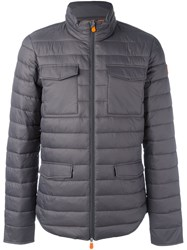 Save The Duck Flap Pocket Padded Jacket Grey