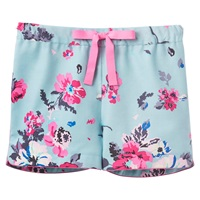 Joules Rae Floral Pyjama Shorts Blue