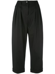 Moschino Cropped Turn Up Trousers Women Cotton Acetate Viscose Other Fibres 44 Black