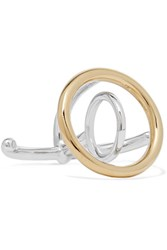 Charlotte Chesnais Saturn Silver And Gold Dipped Ring S