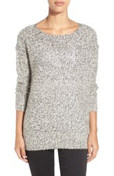 Women's Rd Style Marled High Low Sweater White Beach Twist
