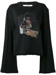 Damir Doma Collage Print Sweatshirt Women Cotton Polyester Xs Black
