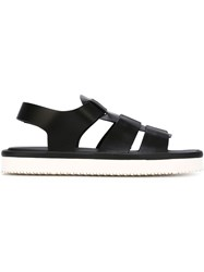 Giorgio Armani Sling Back Sandals Black