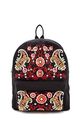 Forever 21 Embroidered Paisley Backpack