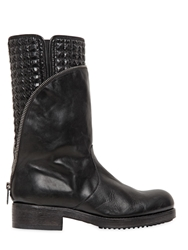 Ink Shoes 40Mm Full Grain Leather Boots With Zip Black