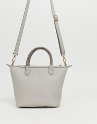 Oasis Cross Body Bag With Snake Handle In Grey