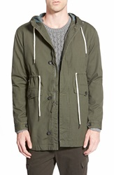 Rhythm 'Nevermind' Water Resistant Hooded Jacket Leaf
