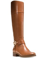 Michael Kors Fulton Wide Calf Riding Boots Women's Shoes Luggage