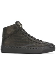 Jimmy Choo Argyle Hi Top Sneakers Black