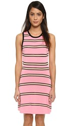 Ohne Titel Stripe Tank Dress Pink Black White