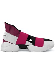 Emilio Pucci City Up Slip On Sneakers Pink And Purple