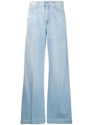 7 For All Mankind High Waist Flare Jeans Blue