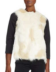 Collection 18 Faux Fur Vest Ivory