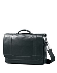Samsonite Columbian Leather Flapover Briefcase Black
