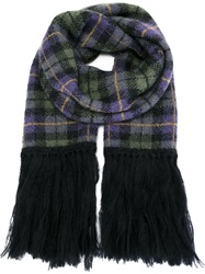 P.A.R.O.S.H. Checked Scarf Pink And Purple