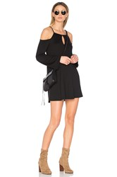 Lanston Cold Shoulder Mini Dress Black