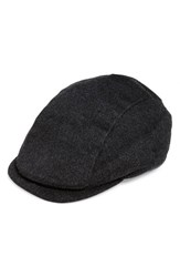 Men's John Varvatos Star Usa Cashmere And Leather Driving Cap Charcoal
