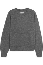 Etoile Isabel Marant Clifton Mohair Blend Sweater Gray