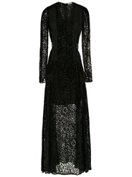 Martha Medeiros Long Velvet Dress Black