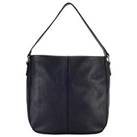 John Lewis Stanley Leather Hobo Bag Black