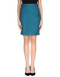 Tomaso Knee Length Skirts Deep Jade