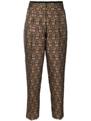 Etro Floral Tapered Trousers Women Polyester Viscose 44
