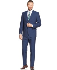 Andrew Marc New York Marc New York By Andrew Marc Navy Sharkskin Solid Classic Fit Suit