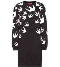 Mcq By Alexander Mcqueen Printed Cotton Blend Sweater Dress Black