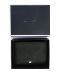 Tommy Hilfiger Black Johnson Trifold Leather Wallet