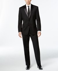 Calvin Klein Black Two Button Slim Fit Tuxedo