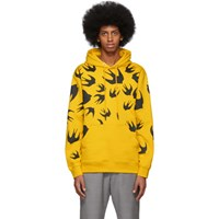 Mcq By Alexander Mcqueen Yellow Swallow Hoodie