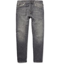 Brunello Cucinelli Washed Denim Jeans Dark Gray