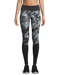 The North Face Pulse Printed Full Length Performance Tights Black Pattern