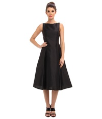 Adrianna Papell Sleeveless Tea Length Dress Black Women's Dress
